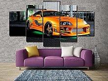 LOVEQ Canvas Wall Art 5 Pieces Non Woven Canvas