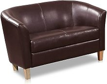 Loveseat Marlow Home Co. Upholstery Colour: Brown
