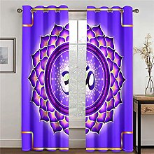 LOVEXOO Blackout Curtains Abstract pattern W33 x