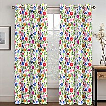LOVEXOO Blackout Curtains Bedroom Flowers W28.54 x
