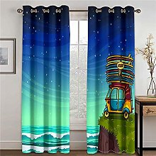 LOVEXOO Blackout Curtains Children's room W33