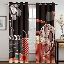 LOVEXOO Blackout Curtains cinema W33 x L54 Inch