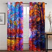 LOVEXOO Blackout Curtains for Bedroom Abstract