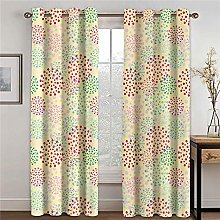 LOVEXOO Blackout Curtains for Bedroom Colored dots