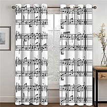 LOVEXOO Blackout Curtains for Bedroom Note W23 x