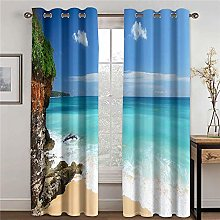 LOVEXOO Blackout Curtains Provence W33 x L54 Inch