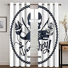 LOVEXOO Thermal Blackout Curtains - Skull W45 x