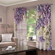 LOVEXOO Window curtain lavender Eyelet Treatment