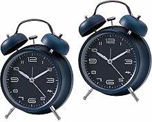 LOVIVER 2pcs Wind Up Mechnical Alarm Clock