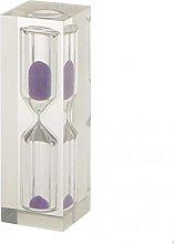 LOVIVER 2x Acrylic Clear 3 Min Hourglass Sandglass