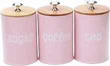 LOVIVER 3X Food Storage Jar, Pink Food Storage Can