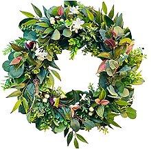 LOVIVER Artificial Eucalyptus Wreath, Fake Flower