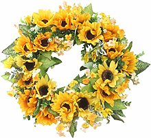 LOVIVER Artificial Sunflower with Pumpkin Summer