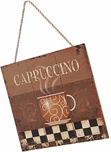 LOVIVER Latte Cappuccino Pattern Plaque Sign With