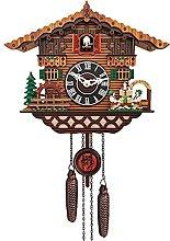 LOVIVER Retro Cuckoo Clock, Quartz Wood Wall