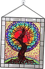 LOVIVER Stained Glass Hangings, Stained Glass
