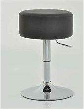 Low Bar Stool - Black Height Adjustable