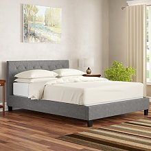 Low End Fabric Upholstered Bed Frame Mercury Row