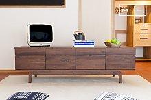 Low sideboard Neliö in  walnut
