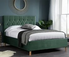 Loxley Fabric Upholstered Double Ottoman Bed In