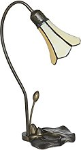 Loxton Lighting 1 Light Lily Table Lamp with Beige