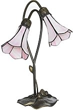 Loxton Lighting 2 Light Lily Table Lamp with Pink