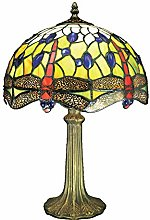 Loxton Lighting 30 cm Dragonfly Table Lamp, Blue
