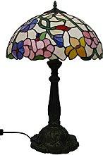 Loxton Lighting 40cm Spring Flowers Tiffany Table