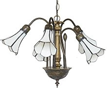 Loxton Lighting 5 Light Pendant with Pear Stained