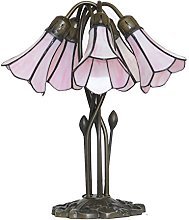 Loxton Lighting 5 Light Table Lamp with Pink Lily