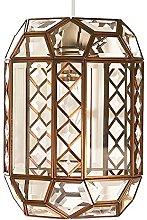 Loxton Lighting Clear Bevelled Glass Lantern