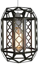 Loxton Lighting Clear Glass Lantern with an