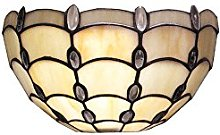 Loxton Lighting Clear Jewel Stained Glass Wall
