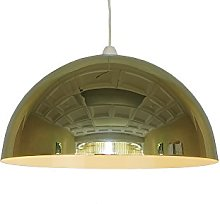 Loxton Lighting Dome Pendant in Mirror Effect,