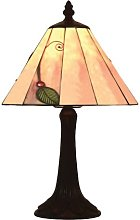 Loxton Lighting Leaf Tiffany Table Lamp, Green