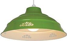 Loxton Lighting Olive Green Aluminum Flower Design