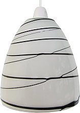 Loxton Lighting Opal Dome Glass with Black line