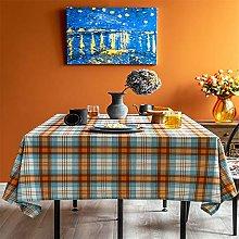 Lpinvin Tablecloth Waterproof Plaid Tablecloth