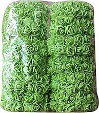 LPxdywlk 144Pcs Solid Color Artificial Foam Rose