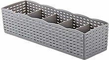 LPxdywlk 5 Grids Socks Underwear Storage Basket