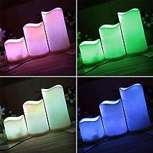 LPxdywlk Light 3Pcs/Set Color Changing LED Candle