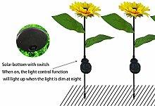 LPxdywlk Night light 2Pcs Outdoor Solar Sunflower