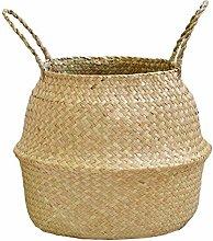 LPxdywlk Wicker Storage Foldable Basket Bamboo