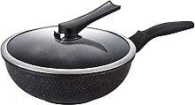 LPXPLP Maifan Stone Wok, Non-Stick Pan, Household