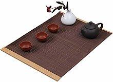 Lqdp Rustic Japanese Style Tea Mat, Bamboo Durable