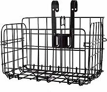 LQKYWNA Folding Bike Basket, Wire Mesh Fold-Up