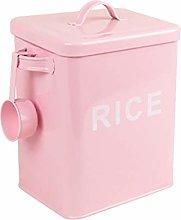 LQY Rectangular Rice Bucket, Metal Rice Storage