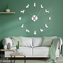 Lrenkey DIY Large Wall Clock - Chihuahua Dog 3D