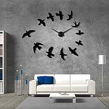 Lrenkey DIY Large Wall Clock - Flying Birds 3D