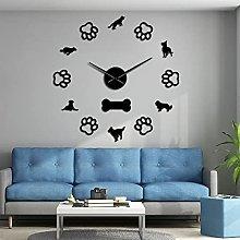 Lrenkey DIY Large Wall Clock - German Shepherd